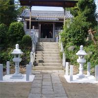 武内神社 灯籠工事