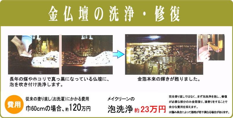 金仏壇の洗浄・修復