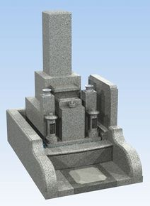 1.85聖地 墓地・墓石セット