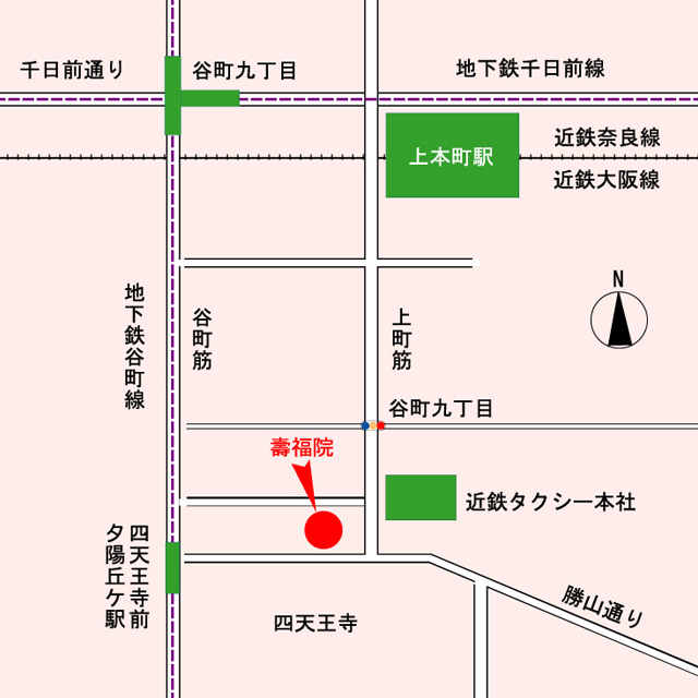 寿福院・案内図