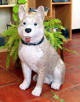 ペットの彫刻 犬