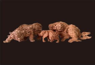 獅子家族3体