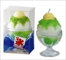 かき氷キャンドルメロン