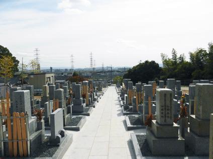 一乗寺・墓地風景