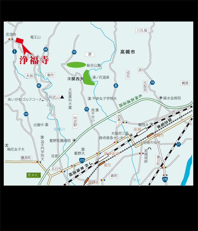 浄福寺・案内図