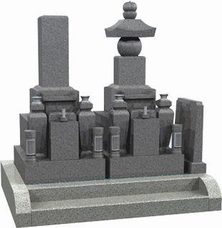 和型8寸 五輪塔 2基建立