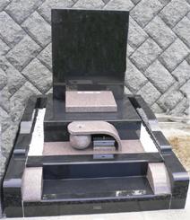 2㎡ 洋碑 インド黒・さくら御影石