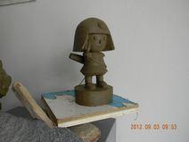 粘土で見本製作