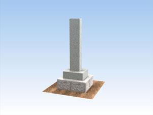 本宗寺石柱 完成予想のCG作成