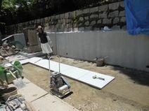 新区画石張り工事