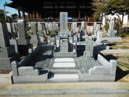 墓所工事完成