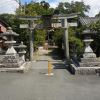 八阪神社灯籠玉垣修復工事