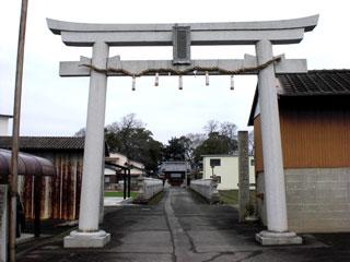 四国丸亀市・神野神社・鳥居工事