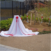 東日本大震災メモリアル植樹記念碑
