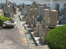 墓地内の風景